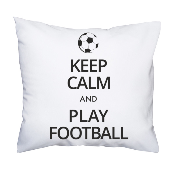 Poduszka Keep calm football