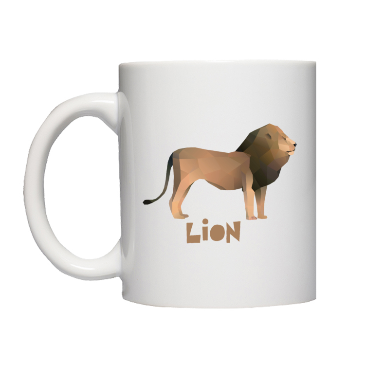 Polygonal lion - lew